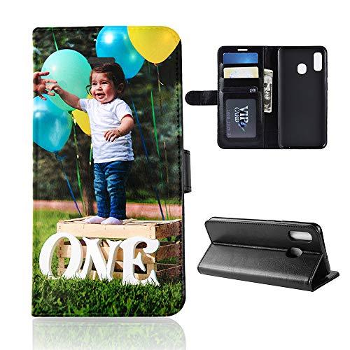Für Samsung Galaxy A40 Personalisierte Foto-Handyhülle, Flipcase Personalisierte Persönliche Ihr Eigenes Bild Foto Brauch Schutzhülle Handy Hülle Tasche Flip Book Hülle Cover, für Samsung Galaxy A40