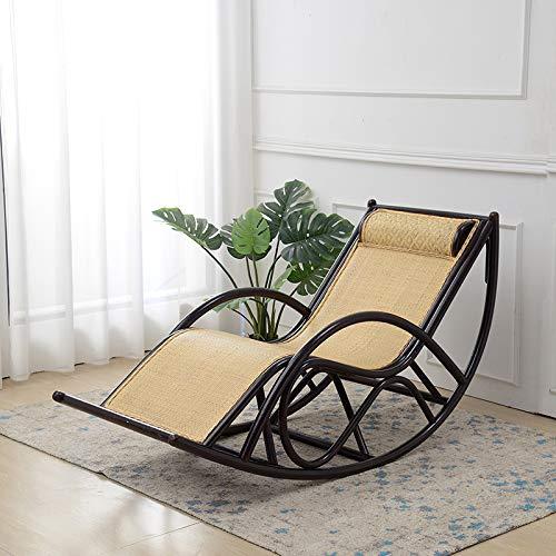 XLSQW Sesselstuhl, Komfortables Entspannung Schaukelstuhl handgefertigte Rattan-Terrassenmöbel im Freiensessel Lounge Chair, für Indoor, Outdoor, Büro, Zuhause,C