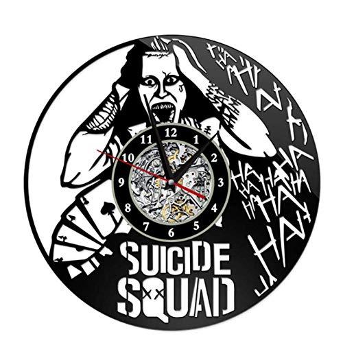 Wanduhr aus Vinyl Schallplatte Wanduhr Selbstmord Squad Stil Uhren für Wohnzimmer Stille Vintage CD Hängen Uhr 12 Zoll Xi521