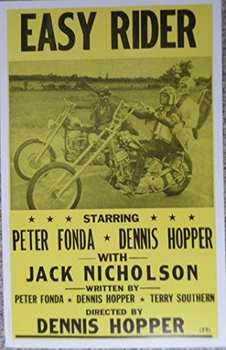 Easy Rider Starring Jack Nicholson and Dennis Hopper Poster