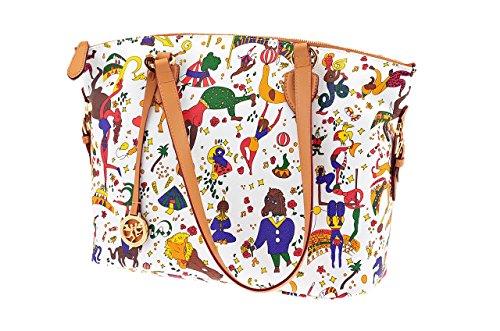 PIERO GUIDI Borsa Shopping Donna Goffrato Magic Circus 211664088