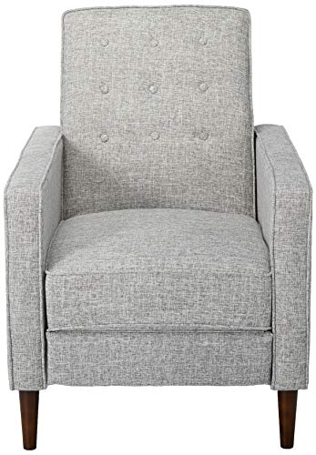 Macedonia Modern Tufted Back Fabric Recliner