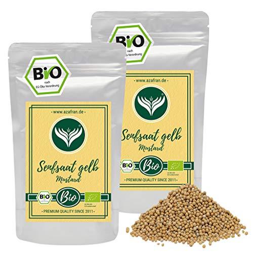 Azafran BIO Senfsaat gelb Senfsamen / Senfkörner zum Senf herstellen 500g