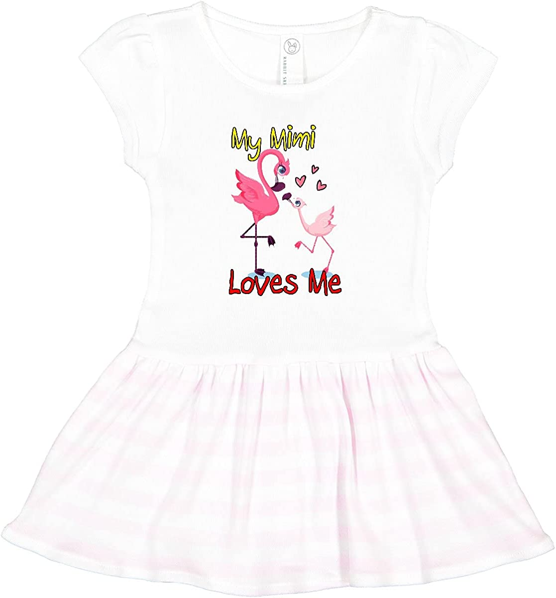 inktastic My Mimi Loves Toddler Ranking San Diego Mall TOP9 Dress Flamingo Me