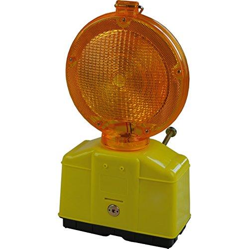 10 Stück Baustellen Warnleuchte Gelb mit LED-Technik, inkl. 10 Schlüssel zum öffnen
