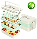 Bento Lunch Box For Kids & Adults with Spoon-Fork Meal Prep Containers...