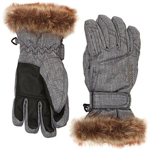 Ziener Mädchen Handschuhe LIM Girls Gloves Junior Kinderhandschuhe, Grey Melange, 4