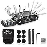 Sporgo Fahrrad Multitools,16-in-1Fahrrad Werkzeug Set,Fahrrad Reparatur Werkzeug Set mit Tasche...