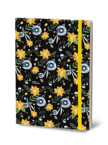 Stifflexible 158XL Flora - Cuaderno (19 x 25 cm, 192 páginas), color rosa