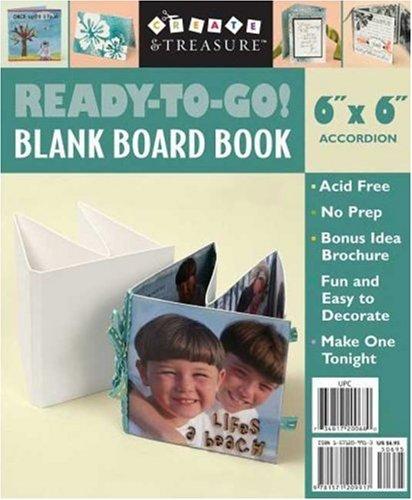 Ready-to-go!: Blank Board Book, White, 6x6 Accordion