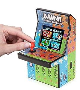 """Brigamo 🕹 80er Retro Mini Arcade Spielautomat mit 2.8"""" LCD Farb Display, eingebautem Lautsprecher und 108 Videospiele 🕹"""