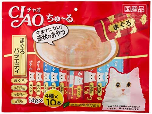 チャオ (CIAO) 猫用おやつ ちゅ~る まぐろバラエティ 14g×40本入
