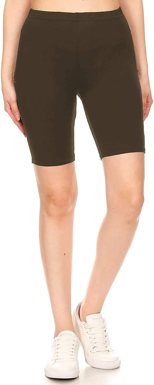 Leggings Depot Womens Fashion Biker Workout Shorts Popular Prints /& Solid Color