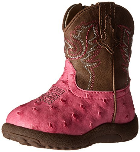 Roper baby girls Annabelle Western Boot, Pink, 3 Infant US