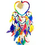 Rainbow Multi Coloured Round Beaded Dream Catcher Beautiful Home Decor & Kids Room Wall Hanging Gift Party Bag Filler Idea Catch All Those Bad Dreams No More Sleepless Nights
