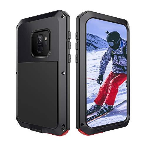 Beeasy Samsung Galaxy S9 Handyhülle,360 Grad Fallschutz Outdoor Hybrid Rüstung Schlagfest Stoßfest Handy Hülle Schutzhülle Robust Metall Stürzen Stößen Heavy Duty Hülle,Schwarz