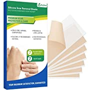 Scar Removal Sheets MayBeau Silicone Scar Sheets 7PCS (5.9 * 2.3 inch) Reusable Scar Remover for Prevent and Cover Scar,Soft Adhesive Fabric Strips for Scar Reduce