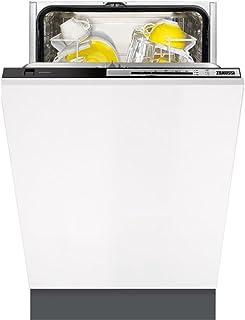 Zanussi ZDV14003FA lavavajilla Totalmente integrado 9 cubiertos A+ - Lavavajillas (Totalmente integrado, Estrecho (45 cm), Blanco, Negro, Botones, Natural)