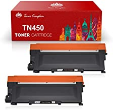 Toner Kingdom Compatible Toner Cartridge Replacement for Brother TN450 TN-450 TN420 TN-420 for HL-2240 HL-2270DW HL-2280DW MFC-7360N DCP-7065DN MFC7860DW Intellifax 2840 2940 Printer (2 Black)