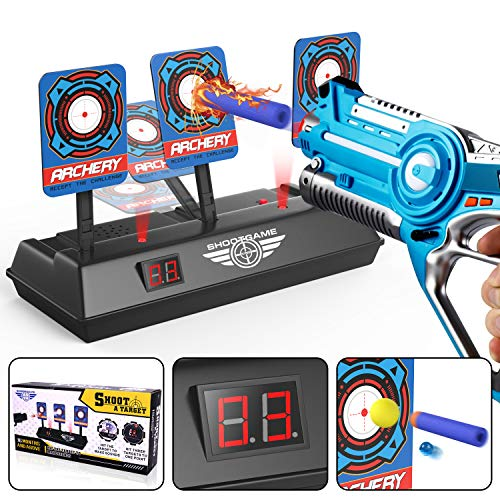 Electronic Digital Scoring Target for Nerf Guns N-Strike Elite Mega Rival Series, Auto Reset Game Light Sound Effect Shooting Soft Bullet Gun Targets, Ideal Gift Toy for Kids Boys Girls (Only Target)