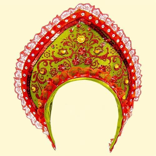 Compar Kokoschnik Schönheit, 22,5 cm, rot-Olive klein