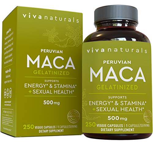 Peruvian Maca Root Capsules - Pure Gelatinized Organic Maca, Supports Reproductive Well-Being and Energy | 250 Vegetarian Capsules