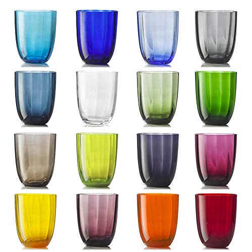 Nason Moretti Idra Ottico Set 16 Bicchieri Vari Colori