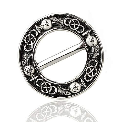 Eburya Celtic Thistle - Schalring aus Schottland mit Distel & keltischem Muster