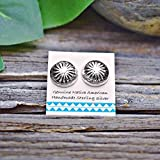 11mm Concho Earrings, 925 Sterling Silver, Authentic Native American Handmade in the USA, Concho Style, Nickle Free