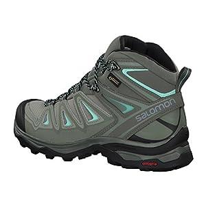 Salomon Women's X Ultra 3 Mid GTX Hiking Boots, SHADOW/Castor Gray/Beach Glass, 7