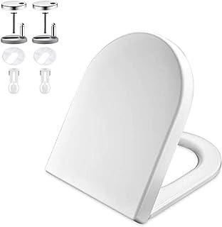 GRIFEMA G951 - Tapa WC, Asiento de Inodoro de Cierre Suave en Forma de D con Liberación Rápida para una Fácil Limpieza, Bl...