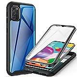 ivencase Samsung Galaxy A41 Hülle, Stoßfest Cover Samsung A41 360 Grad vollschutz Handyhülle Rugged Schutzhülle Samsung A41 mit eingebautem Displayschutz Stürzen Stößen Handyhülle (Black)
