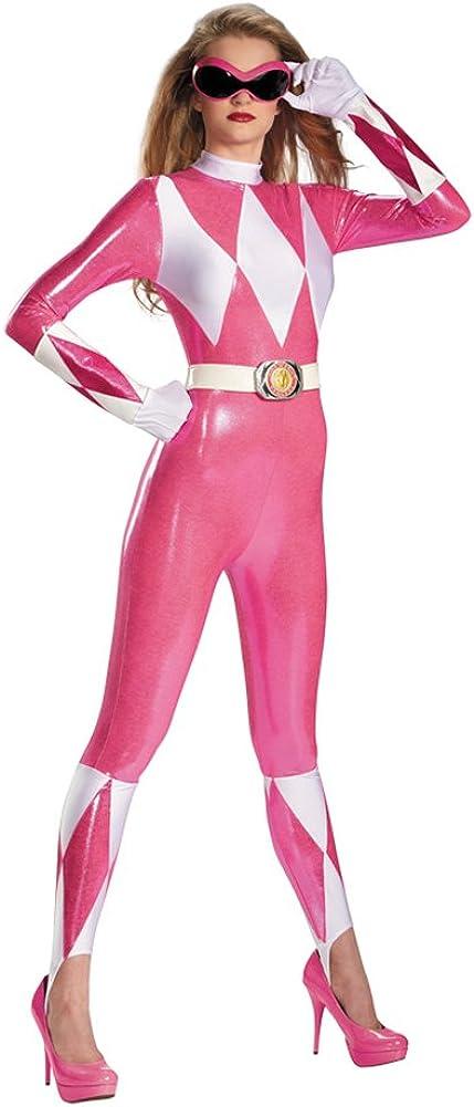 Bargain Disguise Women's Pink Ranger Sassy Morph Mighty Tampa Mall Bodysuit Costume