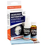 SYLVANIA - Headlight Restoration Essentials Kit - UV Block Clear Coat, Most Important Step to Restore Sun Damaged Headlights, Surface Activator, UV Protection for Clearer Headlights - 1 Fl Oz