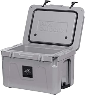 Monoprice Emperor Cooler - 50 Liters - Gray   Securely Sealed, Ideal for The Hottest and Coldest Conditions - Pure Outdoor Collection