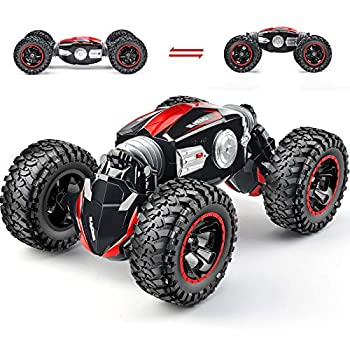 NQD RC Car Off-Road Vehicles Rock Crawler 2.4Ghz Remote Control Car Monster Truck 4WD Dual Motors Electric Racing Car Kids Toys RTR Rechargeable Buggy  Red