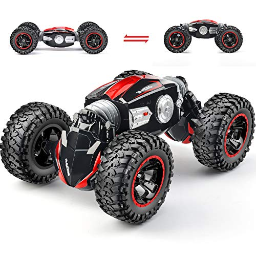 RC Car Off-Road Remote Control Car Monster Truck 4WD Dual Motors Electric Vehicles Rock Crawler 2.4Ghz RC Truck (Red)