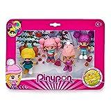 Pinypon- Pack 4 Figuras Nieve, muñeca esquí, Juguete (Famosa 700015771)