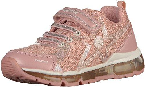 Geox Jungen Mädchen J Android Girl B Sneaker, Pink (Rose/White), 34 EU