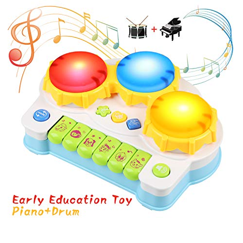 BelleStyle Musical Toy Baby Piano,Early Educational Toys for Toddlers Boys Girls, Electronic Keyboard with Light and Music Baby Toys for 3+ Year Old CE Certified (Green)