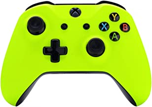 eXtremeRate Soft Touch Lime Yellow Front Housing Shell Faceplate, Comfortable Soft Grip Replacement Kit Cover for Microsof...