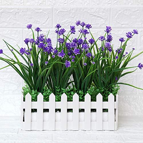 Kunstbloem plastic bloem Kunstmatige groene plant Fake Plant Garden Fence Raamdecoratie Kunstmatige hangplanten: 3