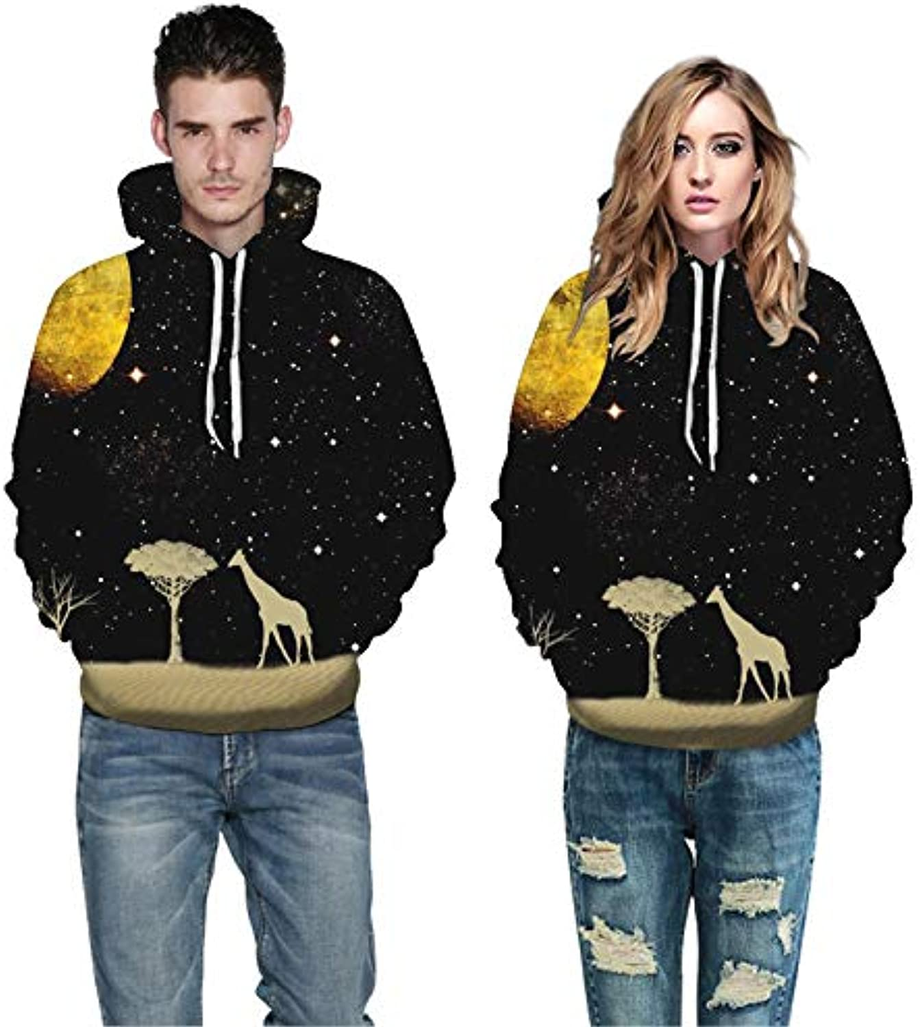 GSYDWY Sweater Sweater Fashion Star Creative 3D Sweater Printing Large Size