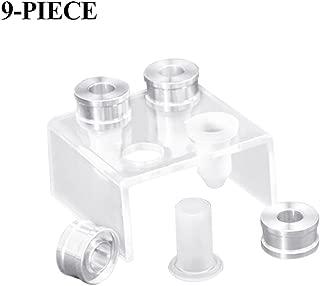 TOOGOO 9-piece DIY 12.1mm simple lipstick filling tube silicone mold aluminum ring four-hole bracket homemade lipstick tool simple t Silicone mold style: beak; ros; nails; love
