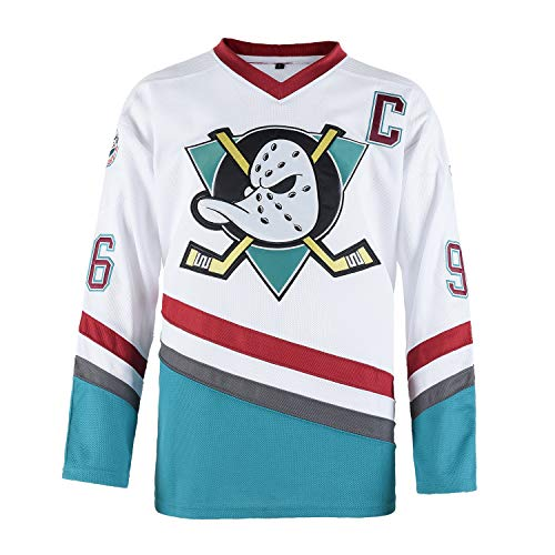 Charlie Conway #96 Mighty Ducks Ice Hockey Jersey White L