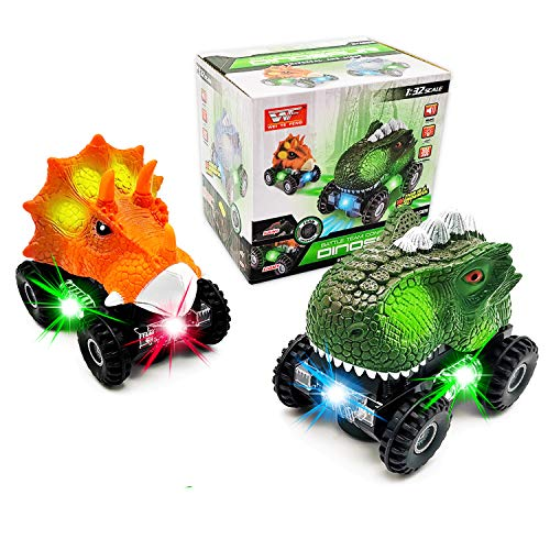FGZU Dinosaur Toys for 2-8 Year old Boys, Dinosaur Cars Toy With LED Lights and Realistic Sound Toys, Dinosaur Gifts for Boys, Boys & Girls - Birthday Gift for 3 4 5 6 Year Old Boys for Kids Toddlers
