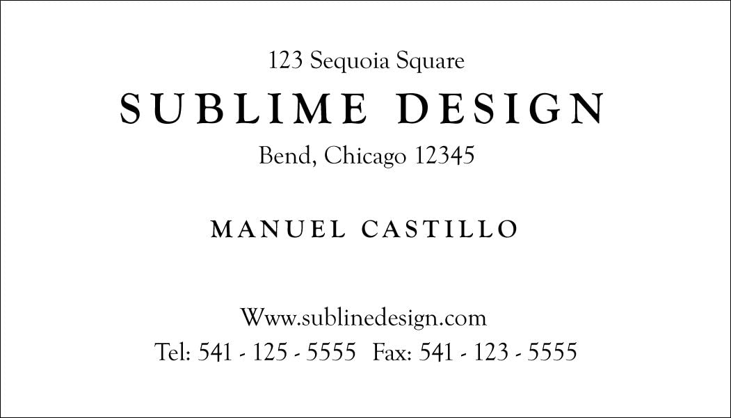 Long Beach Mall Limited price Business Card 500 Elegant Generic