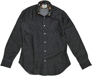 (ジャンネット)GIANNETTO 長袖シャツ メンズ デニムシャツ ブラック WASHING DIVISION 正規取扱店