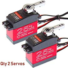 Hexfly Servo 25KG (Qty 2) Metal Gear Waterproof Servo