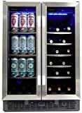 Silhouette SBC051D1BSS Built In Beverage Center, Dual Zone French Door Under Counter Beverage Cooler...